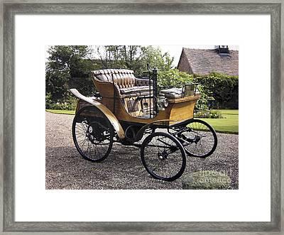 Star Motor Car, 1899 Framed Print by Tony Craddock