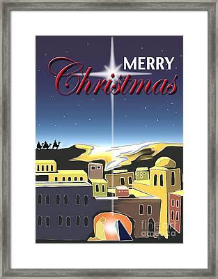 Star Of Bethlehem Framed Print
