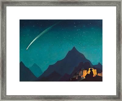 Star Of The Hero Framed Print