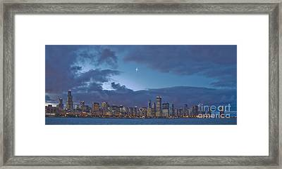 Star Over Chicago Framed Print by Jim Wright