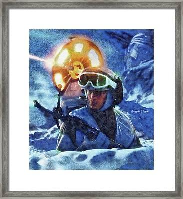 Star Wars Battle Of Hoth - Wax Over Oil Canvas Framed Print by Leonardo Digenio