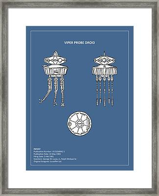 Star Wars - Droid Patent Framed Print by Mark Rogan