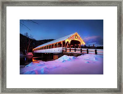Framed Print featuring the photograph Stark New Hampshire by Robert Clifford
