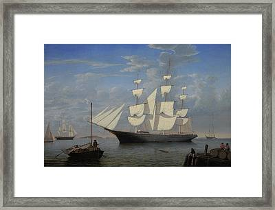 Starlight In Harbor Framed Print