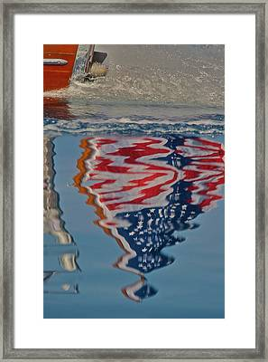 Stars And Stripes On The Water Framed Print