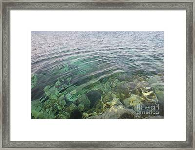Start A Ripple Framed Print by Clay Cofer