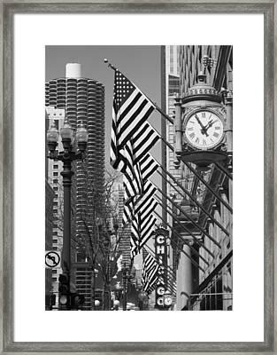 State Street Scene - 1 Framed Print by Sheryl Thomas