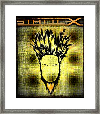Static-x Framed Print by Kyle West