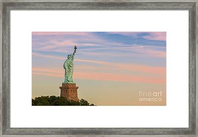Statue Liberty Framed Print by Henk Meijer Photography
