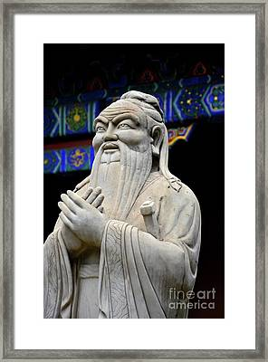 Statue Of Chinese Philosopher Confucius Beijing China Framed Print by Imran Ahmed