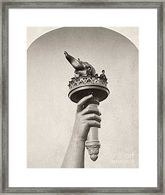 Statue Of Liberty, 1876 Framed Print by Granger