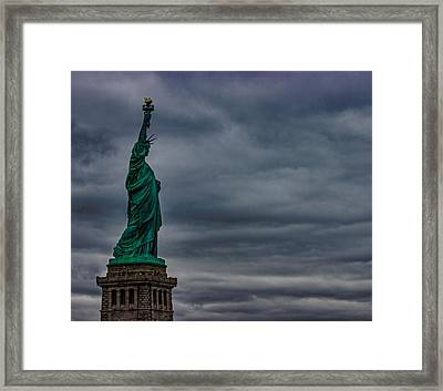 Statue Of Liberty Framed Print by Martin Newman