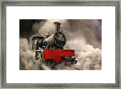 Framed Print featuring the photograph Steam Engine by Charuhas Images