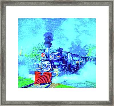 Edison Locomotive Framed Print by Dennis Cox