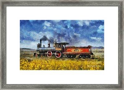 Framed Print featuring the photograph Steam Locomotive by Ian Mitchell