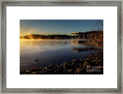Mist On The Lake Framed Print