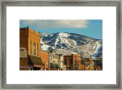 Steamboat Springs Framed Print by Rachele Morlan