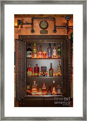Steampunk Interior Design 4 Liquor Vault Atlanta Mancave Bar Art Framed Print