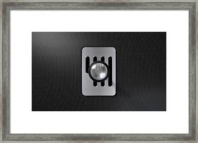 Steel And Chrome Stick Shift Framed Print