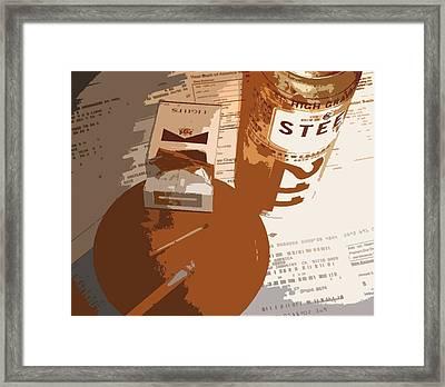 Steel Reserve Framed Print by Jennifer Ott