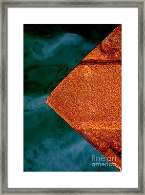 Framed Print featuring the photograph Steel Wharf by Robert Riordan