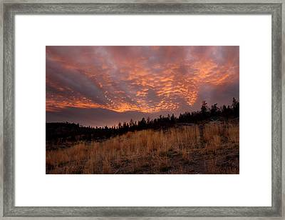 Steelhead Provincial Park Sunset Framed Print by Pierre Leclerc Photography