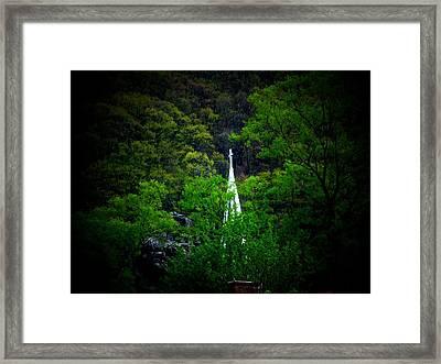 Steeple Framed Print by Michael L Kimble