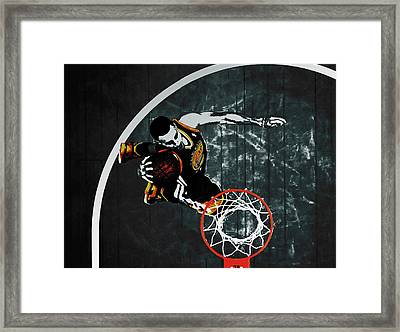 Stephen Curry In Flight Framed Print