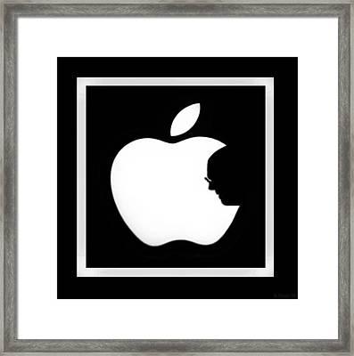 Steve Jobs Apple Framed Print