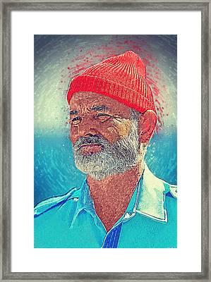 Steve Zissou Framed Print by Taylan Apukovska