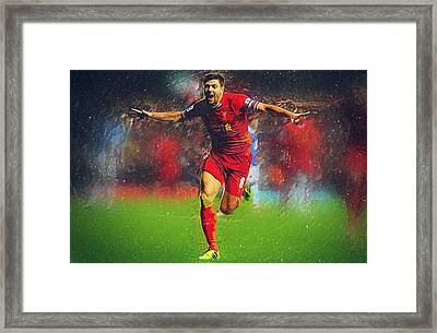Steven Gerrard Framed Print by Semih Yurdabak