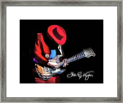 Stevie Ray Vaughan - Texas Flood Framed Print