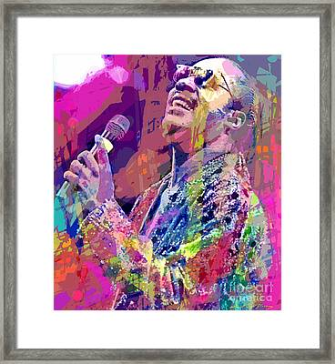 Stevie Wonder  Framed Print by David Lloyd Glover