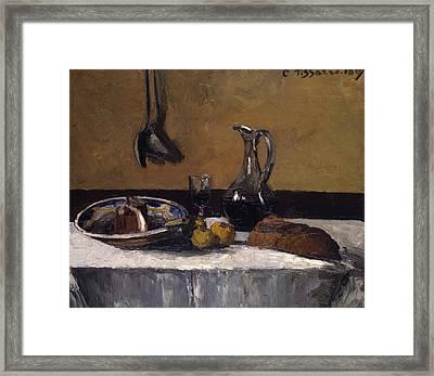 Still Life Framed Print by Camille Pissarro