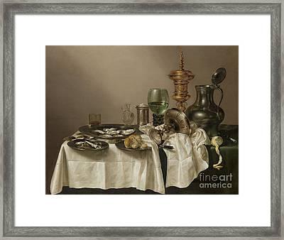 Still Life With A Gilt Cup Framed Print by R Muirhead Art