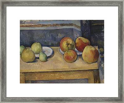 Still Life With Apples And Pears Framed Print