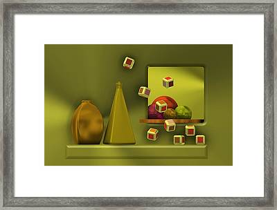 Still Life With Cubes Framed Print by Alberto RuiZ