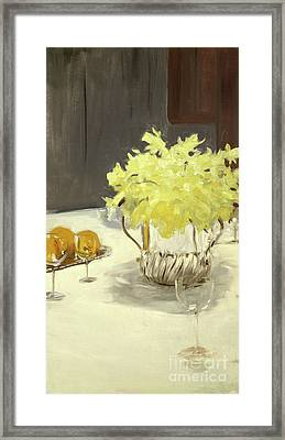 Still Life With Daffodils Framed Print by John Singer Sargent