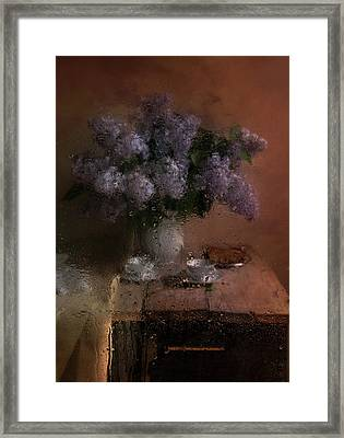 Still Life With Fresh Lilacs Framed Print