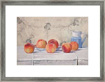 Still Life With Peaches Framed Print