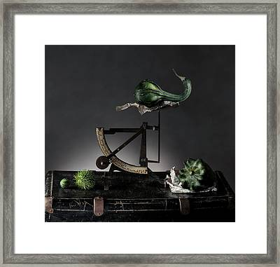 Still Life With Pumpkins And Scale Framed Print