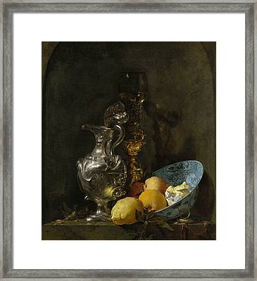 Still Life With Silver Pitcher Framed Print