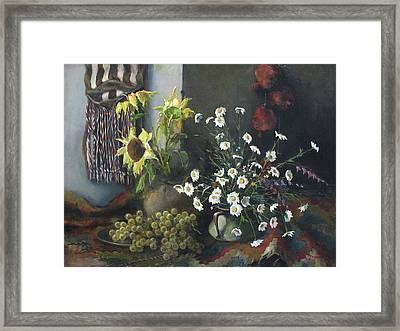 Still-life With Sunflowers Framed Print