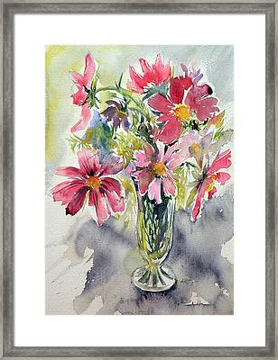 Still Life With Windflowers Framed Print by Kovacs Anna Brigitta