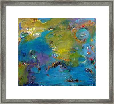 Still Waters Run Deep Framed Print