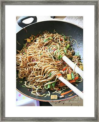 Stir Fry Noodles Framed Print by Tom Gowanlock