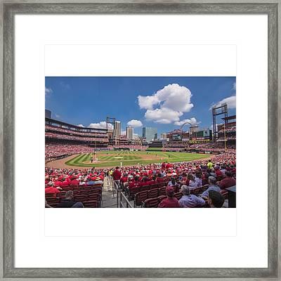 #stlouiscardinals #cardinals Framed Print