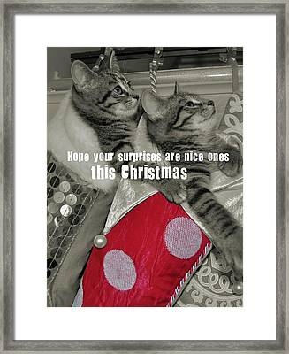 Stocking Stuffers Quote Framed Print by JAMART Photography
