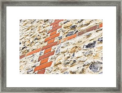 Stone And Brick Wall Framed Print by Tom Gowanlock