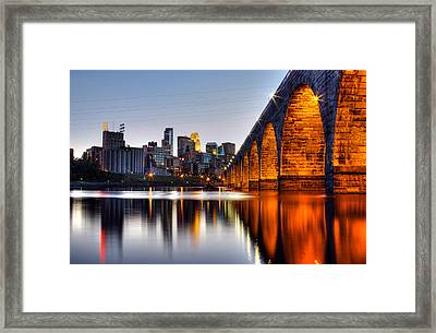 Stone Arch Sunset Framed Print